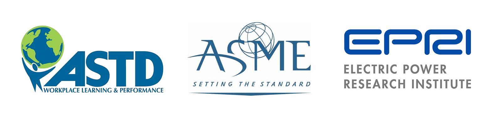 ASTD ASME EPRI partner logos